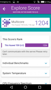 huawei y3 vellamo scores and comparison