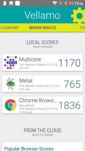 qmobile i6 metal vellamo comparison scores