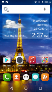 qmobile lt500 pro interface display results