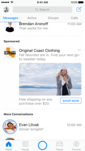 Facebook Messenger to Inject Display Ads into Inbox Globally
