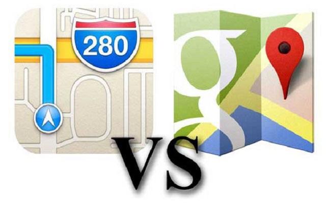 Map War: Google Maps vs Apple Maps