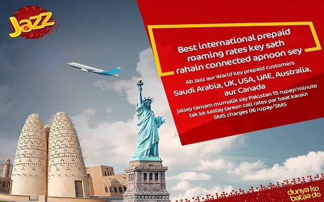 Enjoy International Trips with Affordable Rates in 30 Countries With Jazz Prepaid Roaming Service
