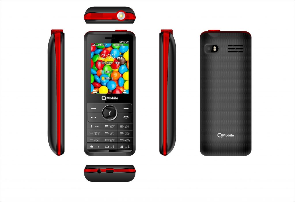 QMobile Feature Phone Super Phone SP1000 – 2.4 Display – 4000 mAh Super Battery