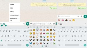 WhatsApp Makes it Easier to Find Emojis and Apply Text Fonts