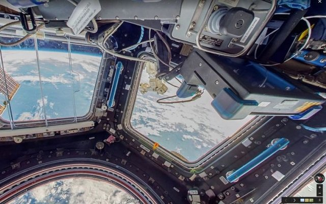 International Space Station with Google Maps Street View