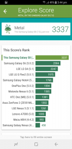 samsung galaxy s8 vellamo scores and comparison results