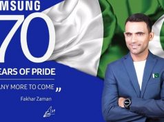 Fakhar Zaman Becomes the Brand Ambassador of Samsung Galaxy J7 Core