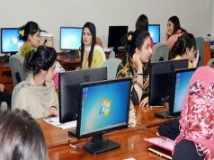 MOIT Establishes a Computer Lab at Women Development and Empowerment Center in Burma