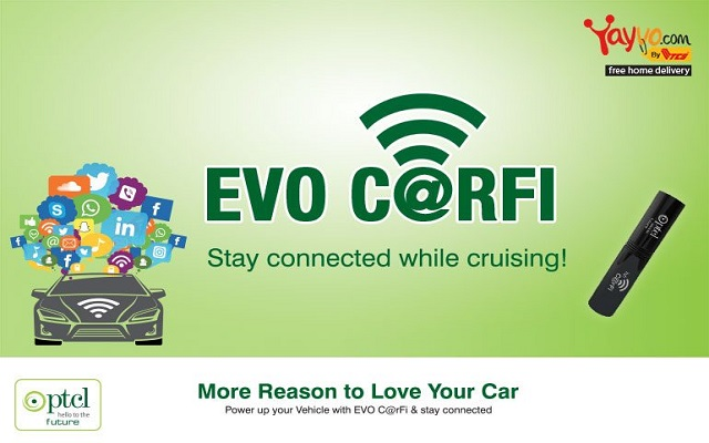 PTCL CarFi Keeps You Connected with Social World while Traveling