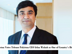 Pakistan Votes Telenor Pakistan CEO Irfan Wahab as One of Country's Heroes