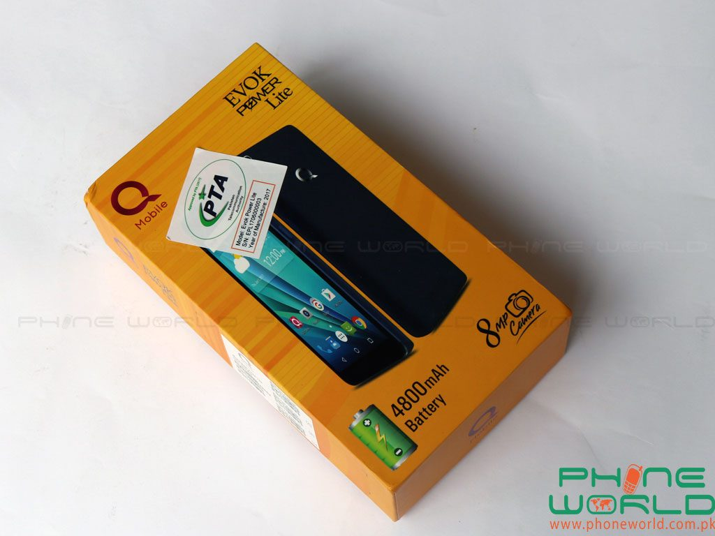 qmobile evok power lite box