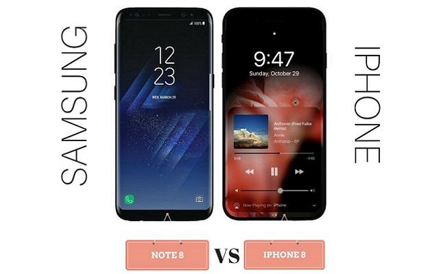 Samsung Galaxy Note 8 Vs iPhone 8 - A Price Comparison