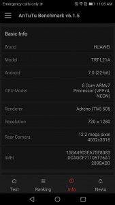 huawei y7 prime antutu scores and comparison