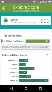 qmobile evok power vellamo scores and comparison