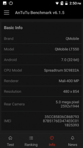 qmobile lt550 antutu scores and comparison