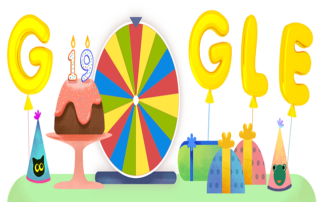 Google celebrates itself this time with its Doodle marking its 19th 'anniversary'