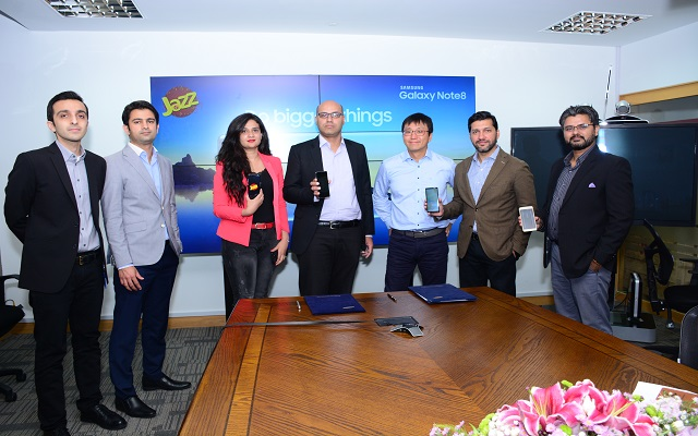 Jazz Partners with Samsung for the Launch of Galaxy Note 8 in Pakistan