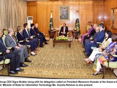 CEO Telenor Group Visits Pakistan & Calls on President Mamnoon Hussain
