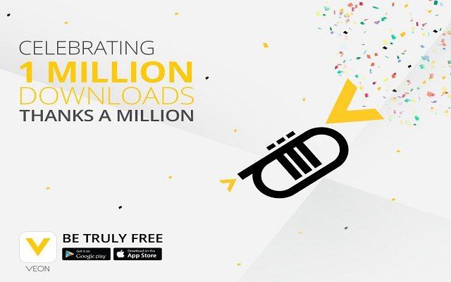 VEON App Announces 1 Million Downloads Celebration in 19 Days