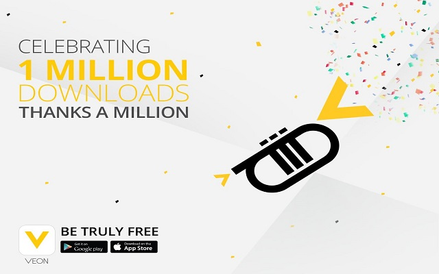 VEON App Announces 1 Million Downloads Celebration in 19 Days
