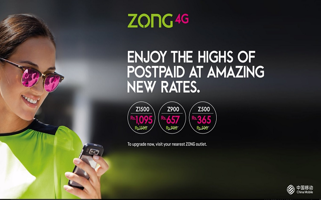 Zong 4G Postpaid Offers-Leading the Market Successfully
