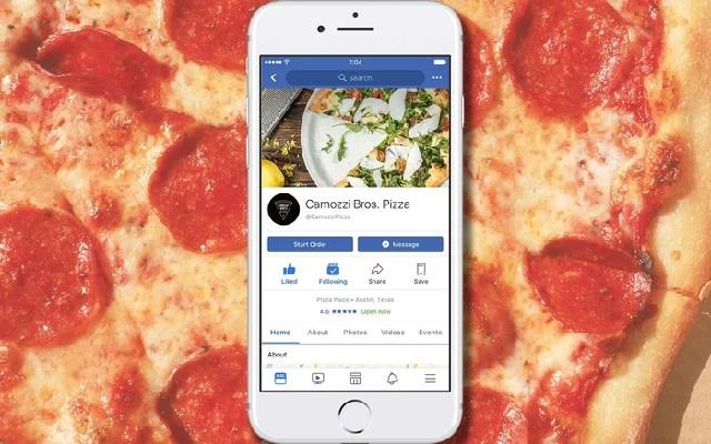 Facebook Now Lets You Order Food