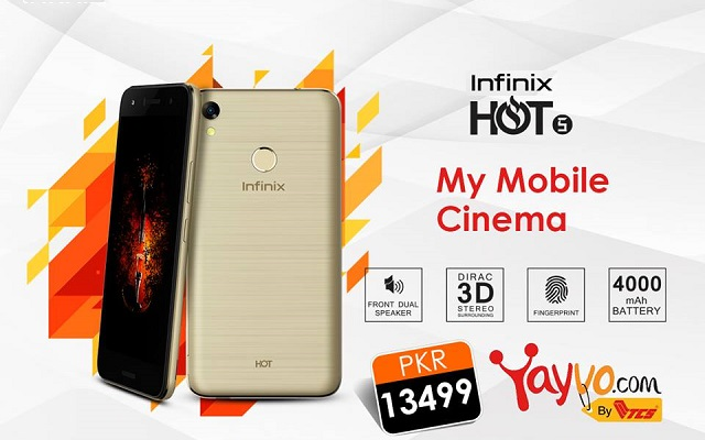 Budget Friendly Infinix Hot 5 is Now Official in Pakistan