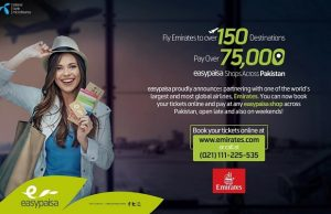 Now Pay for Your Emirates Tickets via Easypaisa Account