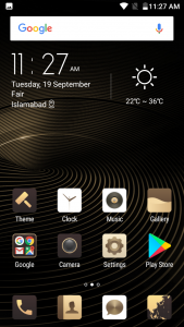 qmobile s8 interface display
