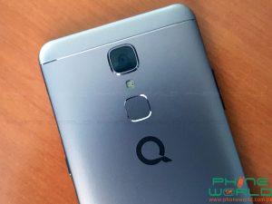 qmobile s8 back camera lens fingerprint scanner