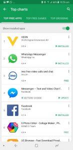 VEON App Tops Play Store Raking & Stood No. 2 on iOS