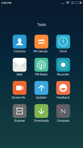 xiaomi redmi note 5a interface display