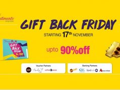 "TCS Sentiments Express Proudly Presents ""GIFT BACK FRIDAY"""