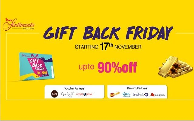 """TCS Sentiments Express Proudly Presents """"GIFT BACK FRIDAY"""""""