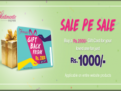 Get Rs 1000 Shopping Free on this Gift Back Friday through Gift Card