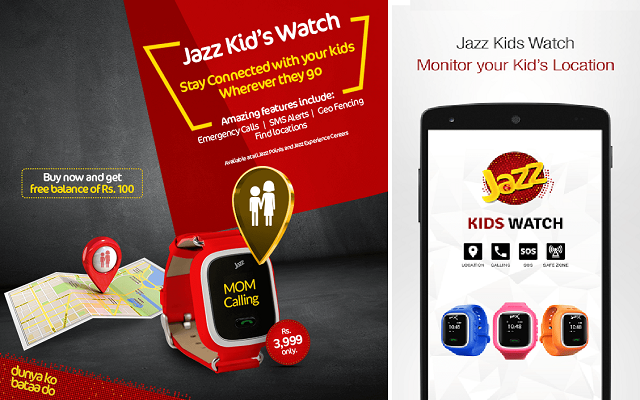 Now Monitor Your Children with Jazz Kids Watch