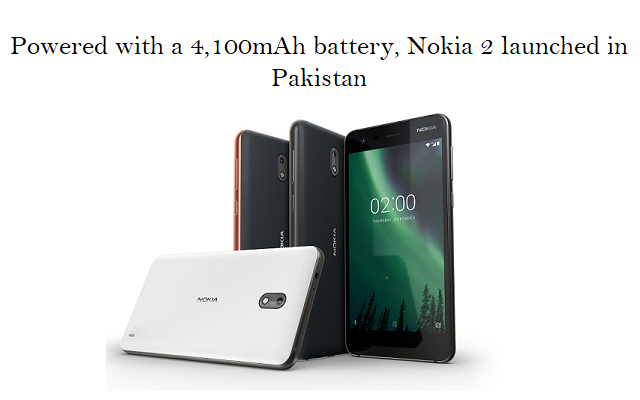 Photo of Nokia 2 Officially Launched in Pakistan at Rs. 11,430
