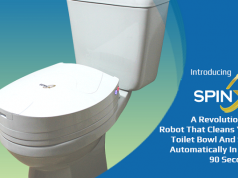 SpinX-Toilet Cleaning Robot Does Your Dirty Work just in 90 Seconds