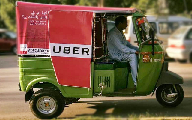 Uber Launches Affordable Rickshaw Service UberAUTO in Faisalabad