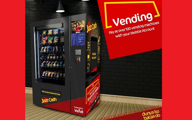 JazzCash enabled at over 100 Vending Machines Across Pakistan