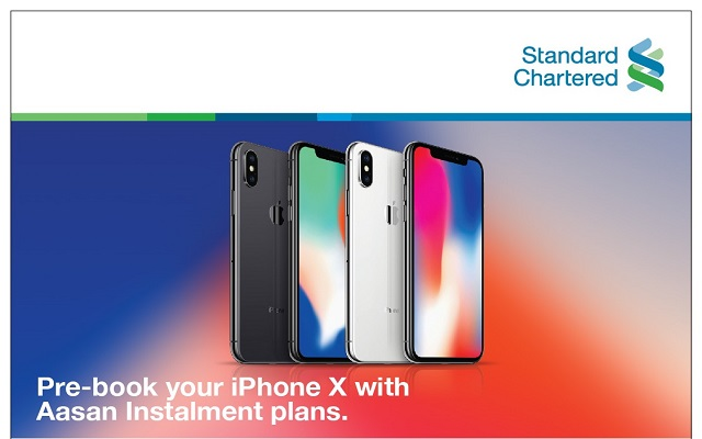 Standard Charted Offers iPhone X on Asaan Installment with 0% Markup