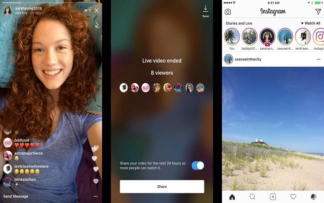 Now You can Send Instagram Live Video as Direct Message