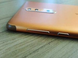 nokia 8 edges volume keys power button