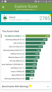 one plus 5 vellamo scores and comparison