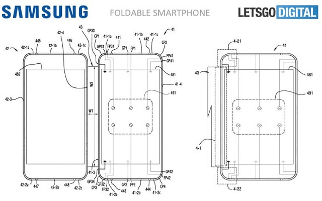 Samsung Files a New Patent for Foldable Galaxy X Phone