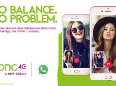 Zong 4G's Free WhatsApp Offer