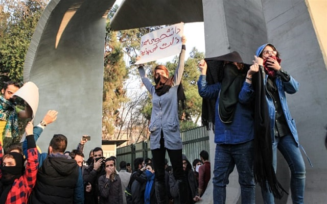 Iran cuts off internet access in several cities as mass protests continue