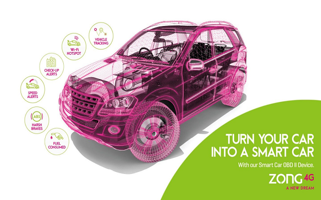 Zong 4G Launches Smart Car Solution- A Realm of New Opportunities