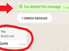 Quoted WhatsApp Messages Cannot Be Deleted