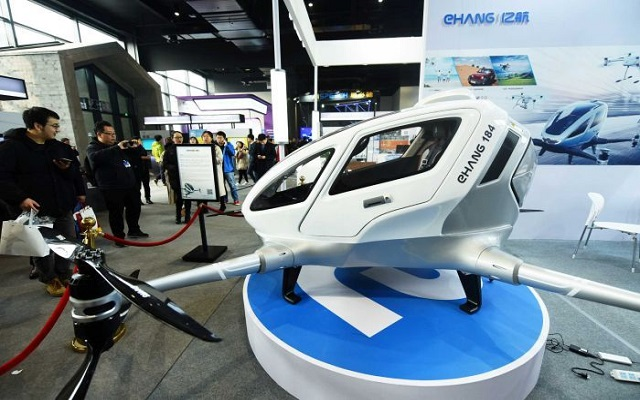 EHang 184: World's First Passenger Drone Makes Flight in China